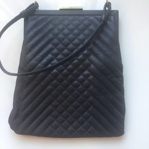 Cynthia Rowley grey Jolie quilted leather bag